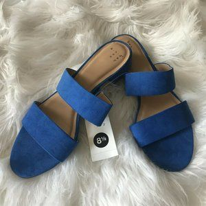 A New Day Blue Kyrielle Slide Sandals